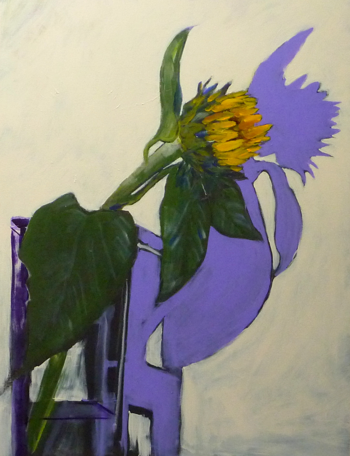 "single sunflower  40""x30"" Sep 13, 2015, 10-25 AM"