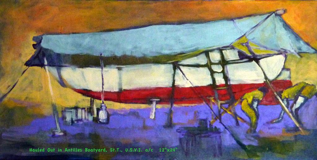 Hauled Out in Antilles Boatyard, St.T., U.S.V.I