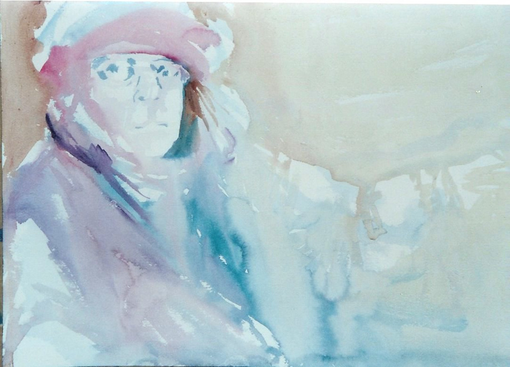 "Winterw Work   watercolor  18""x24"""
